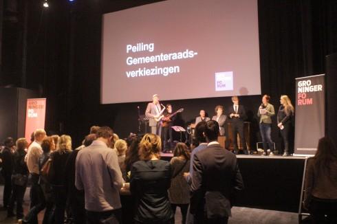 Uitslagenavond in Groninger Forum, foto Lesley Pietens