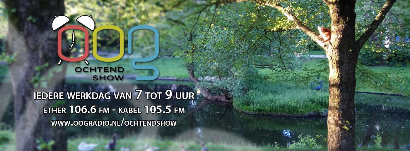 OOG Ochtendshow, iedere werkdag van 7 tot 9 uur nieuws uit Groningen op OOG Radio - Noorderplantsoen