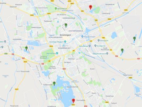 Kaart Zwemwater Groningenn
