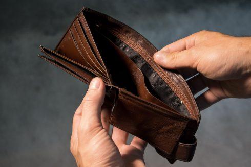 armoede, portemonnee, geld
